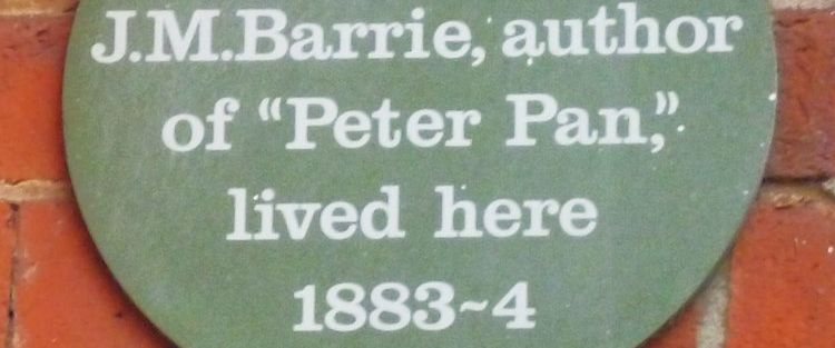 JM Barrie plaque