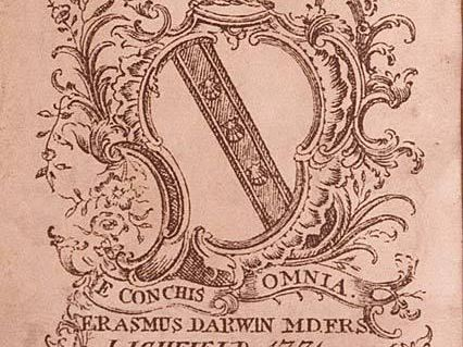 E Darwin Bookplate With Motto